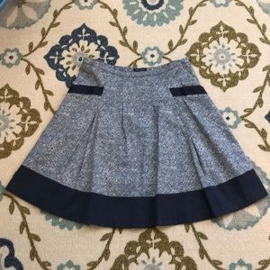 The Limited Blue and White Skirt